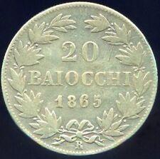 Vatican Pie IX 20 Baiocchi 1865 Rome An XX