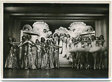 Original vintage 1930s FOLIES BERGERE Paris cabaret dancers, showgirl