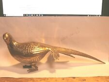 "VINTAGE  BRASS PHEASANT 15-1/4"" LONG  X 3 "" ACROSS"