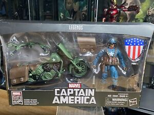"""CAPTAIN AMERICA MOTORCYCLE WWII Ultimate Marvel Legends 2019 6"""" 80 Years HASBR0"""
