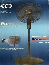 """Lasko Elite Collection 18"""" Pedestal Fan with Remote Oscillation and Thermostat"""