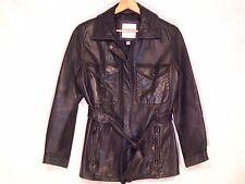 Andrew Marc New York VTG soft leather lined black jacket / women S / nice / b47