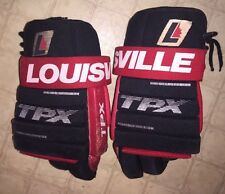 VINTAGE Louisville TPX LEATHER Palm HOCKEY GLOVES TPXGLN4 Black & Red