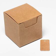 ECO KRAFT Small Natural GIFT BOXES Wedding Favour Chocolate Box   FREE Tags