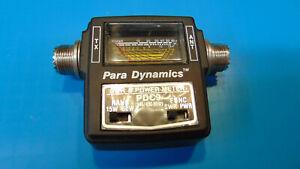 PARA DYNAMICS PDC-9 VHF/UHF POWER/SWR METER 0-15W & 0-60W In-Line Wattmeter