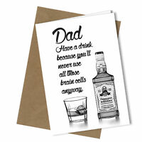Greetings Card Have a Drink Comedy Rude Funny Humour Fathers Day / Birthday #198