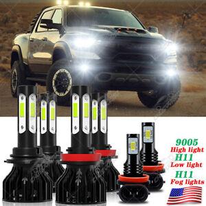 For Dodge RAM 1500 2019 2020 LED Headlight + Fog Light Lamp Bulbs Combo 6000K YH