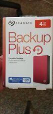Seagate 4 TB External Hard Disk - Red STDR4000303 Backup Plus
