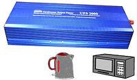 2000W POWER INVERTER DC 12V TO AC 230V 220V 240 VOLTAGE DISPLAY