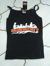 Exclusivo Auténtico HARLEY DAVIDSON Damas Niñas Camiseta de tirantes S M