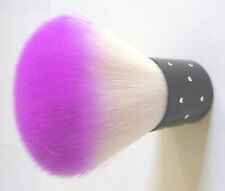 PURPLE GLITTER DUST POWDER REMOVER TWINKLY JEWELED ROUND CLEANER BRUSH COSMETIC*
