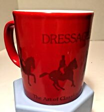Vtg Kiln Craft Ceramic Devon Dressage Horse Riding Coffee Mug Made England EUC