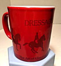 Vtg Kiln Craft Ceramic Devon Dressage Horse Riding Coffee Mug Made England EUC