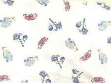 Pottery Barn Kids Twin Duvet Cover Construction Trucks White Blue Red Yellow