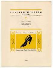 Art Déco-Mode-Schuhe-Reklame - Lithographie aus Styl 1922 Pochoirkolorit