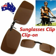 Driving Polarized UV 400 Lens Clip-on Glasses Sunglasses Glasses Myopia AU Stock