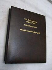 The Gold Nations of the World Stamp Issue 23K Calhoun's Album Philatelic