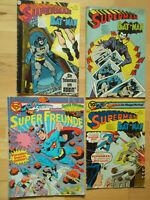 Superman Nr.5, 13 von 1975, Nr.11 von 1976, Super-Freunde Nr.3 - Konvolut