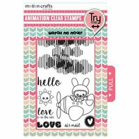 Motion Crafts Animation Clear Stamp/Die Cut Combo - Love Is In The Air