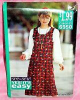 Uncut Butterick Sz 18-22 Easy Dropped Waist Pleated Jumper Dress Pattern 6950