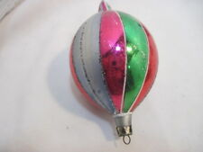 Old Vintage Tear Drop Holiday Christmas Tree Ornaments Tri-Color 4""