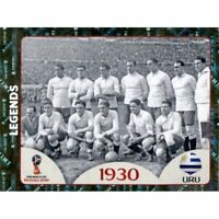 Panini WM 2018 675 Legends Uruguay 1930 World Cup WC 18 Wappen Glitzer Foil