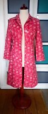 Gorgeous L K BENNETT Knee Length Pink Embroidered Linen Jacket Size10