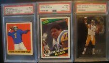 Rams Football Card Lot: 1948 Waterfield, 1984 Slater, 1999 Warner: HOF Rookies!