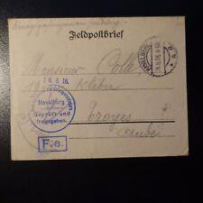LETTRE COVER PRISONNIER DE GUERRE CAD HAVELBERG 1916 -> TROYES AUBE