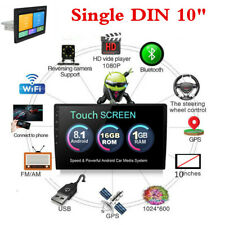 """Android 8.1 10.1"""" 1Din Touch Screen Quad-Core 16G Car Radio GPS Wifi BT DAB OBD"""