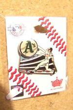 Oakland A's Athletics moving sliding baseball pin MLB light yellowing