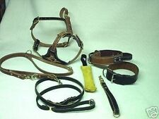 DOG TRAINING POLICE K9 SCHUTZHUND LEATHER SET NO 1 A GREAT DEAL LOOK !!!!!!!!!!!