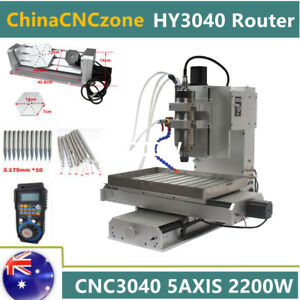 CNC3040 5Axis Engraver 2200W Carving Router Cutter Milling DIY Machine Handwheel
