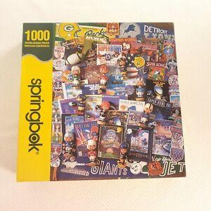 Springbok Football Fantasy Jigsaw Puzzle 1000 PC Superbowl Bobble Head Collage