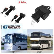 2 Sets Retractable 2 Point Flat Truck Car Safety Seat Belt Lap Kit+2x Buckle -US