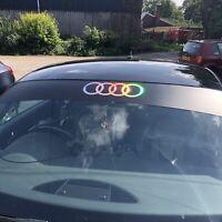 Audi Sun Strip Matte Black & Oil Slick Badge/logo (A3,TT,TTRS,TTS,R8,RS3)