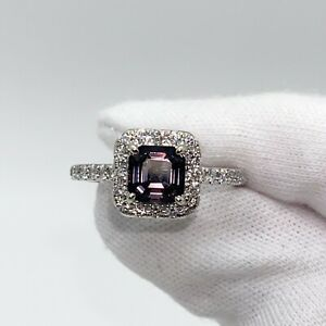 14K White Gold 1.73 tcw Dark Grey Spinel Diamond Ring SEE VIDEO w/ Appraisal