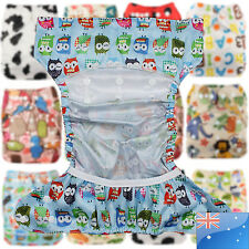 Baby One Size Reusable Cloth NAPPY Cover Wrap To Use With Flat or Fitted Nappy