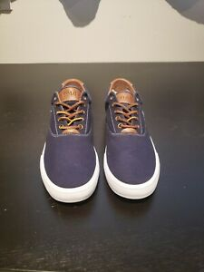 Polo Ralph Lauren Mens Navy Canvas Shoes
