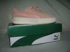 PUMA Suede Platform Women Sz 8.5 Coral Cloud-Whisper White Fashion Sneakers 39