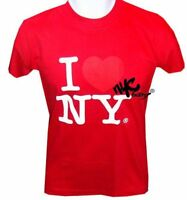 I Love NY T-Shirt Red New York Licensed Heart Tee NYC L