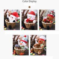 Merry Christmas Candy Storage Basket Decorations Santa Claus Storage Baskets#R