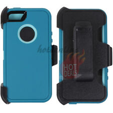 For Apple iPhone 5/5s Turquoise Case Cover (Belt Clip Fits OtterBox Defender)