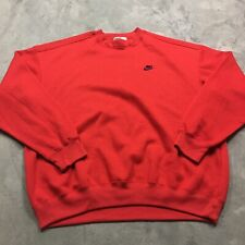 NIKE 80s 90s VTG Gray Tag EMBROIDERED Rayon Tri Blend Sweatshirt Mini Swoosh 2XL
