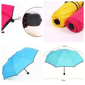 New Solid Color Windproof Sun Rain Folding Umbrella Free Shipping