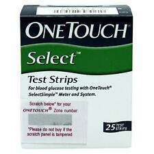 OneTouch Select Test Strips (25 Count, Multicolor)