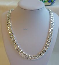 Thick 925 sterling silver filled/plated men curb chain heavy necklace 24Inch