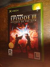 * Original Xbox Game * STAR WARS EPISODE III 3 REVENGE OF THE SITH * X Box