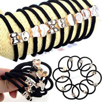 Wholesale Girls Elastic Hair Ties Band Ropes Ring Ponytail Holder Headband 10Pcs