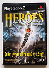 HEROES OF MIGHT & MAGIC QUEST FOR THE DRAGONBONE STAFF PLAYSTATION 2 PS2 PAL ESP